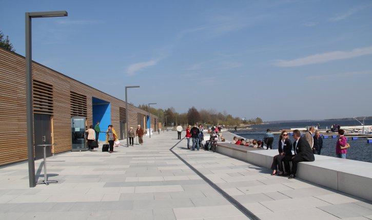 Stadhafen Senftenberg im Frühling